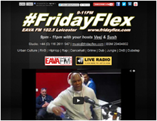 Friday Flex 9pm - 11pm EAVA FM 102.5 Leicester